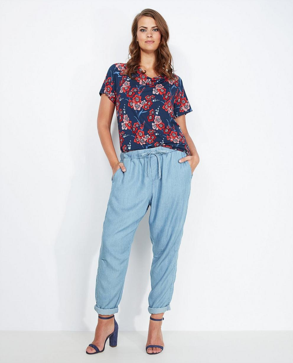Lichtblauwe soepele jeans - van zacht lyocell - Lena Lena